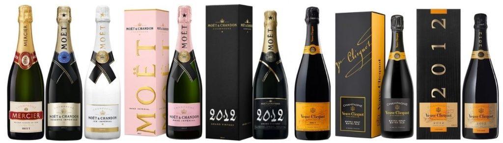 Sélection de champagnes fameux